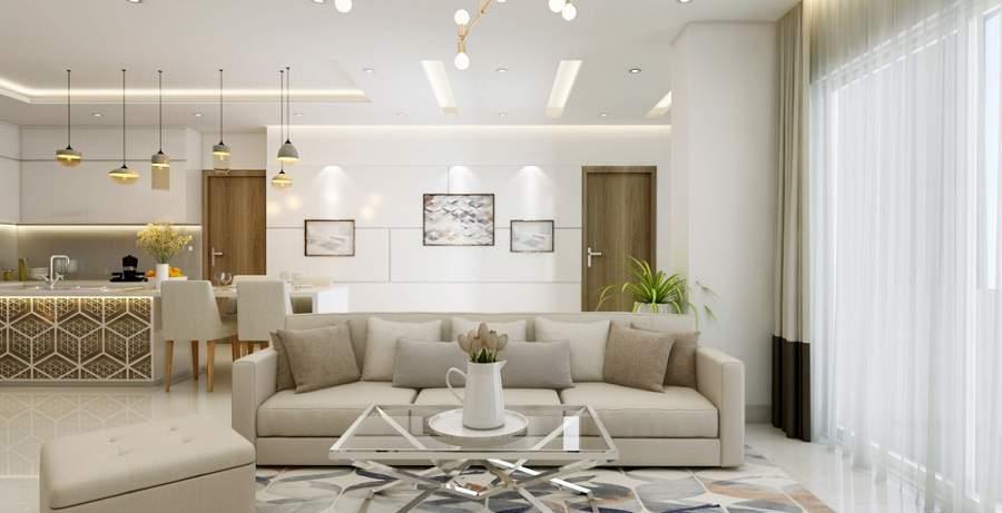 Thiết kế nội thất phòng khách cho người mệnh kim đẹp nhất chỉ tại nội thất Toàn Cầu