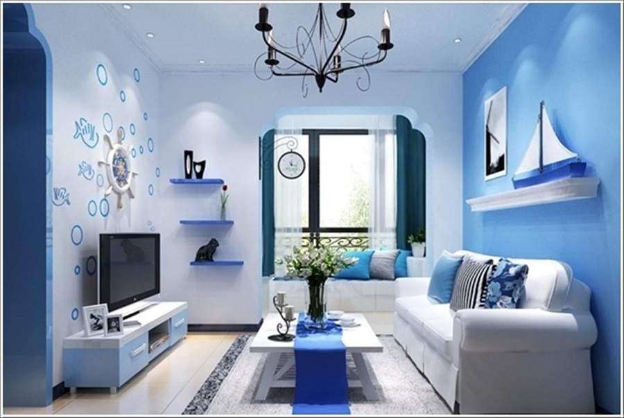 Thiết kế nội thất phòng khách cho người mệnh thủy đẹp hiện đại