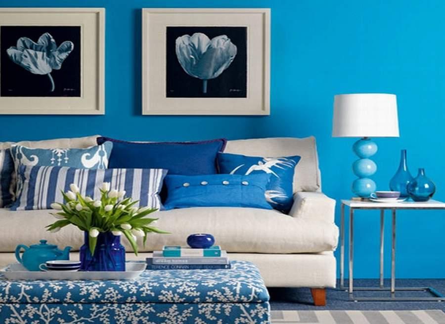 Thiết kế nội thất phòng khách cho người mệnh thủy đơn giản