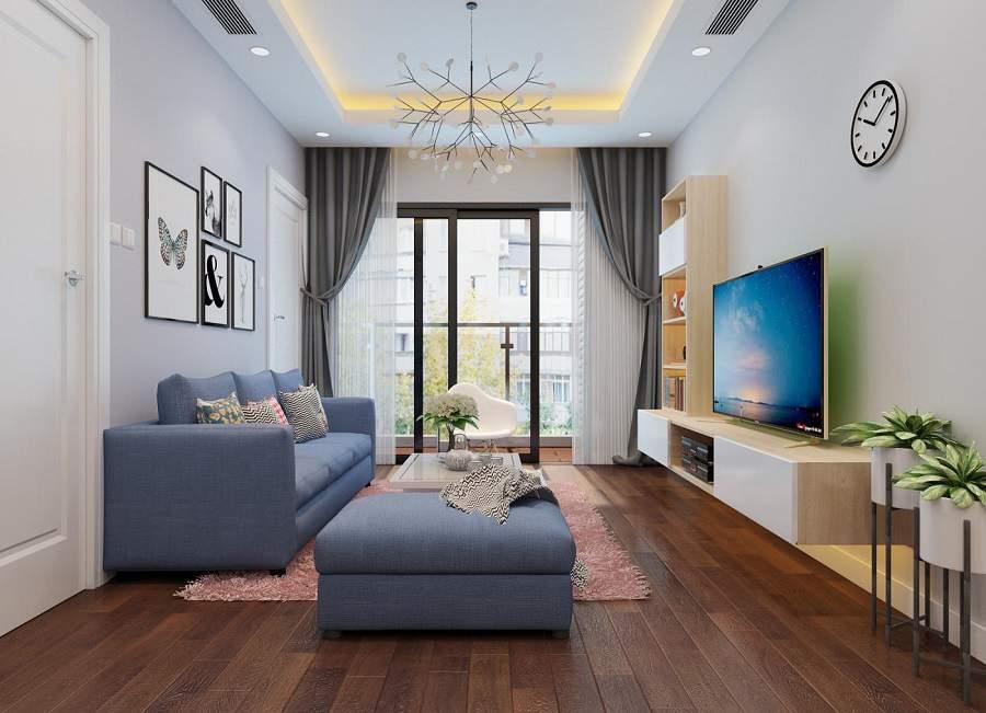 Thiết kế nội thất phòng khách cho người mệnh thủy theo phong cách hiện đại