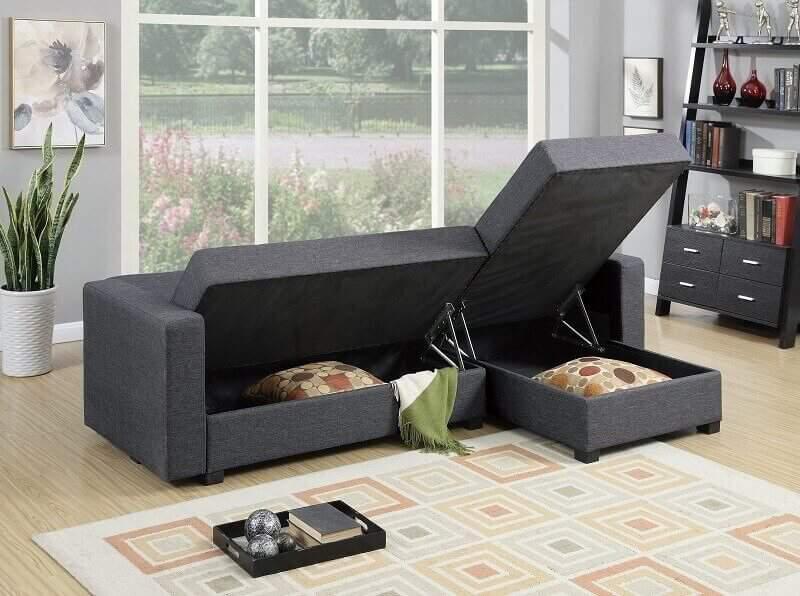 Thiết kế phòng khách độc đáo với chiếc ghế sofa đa năng
