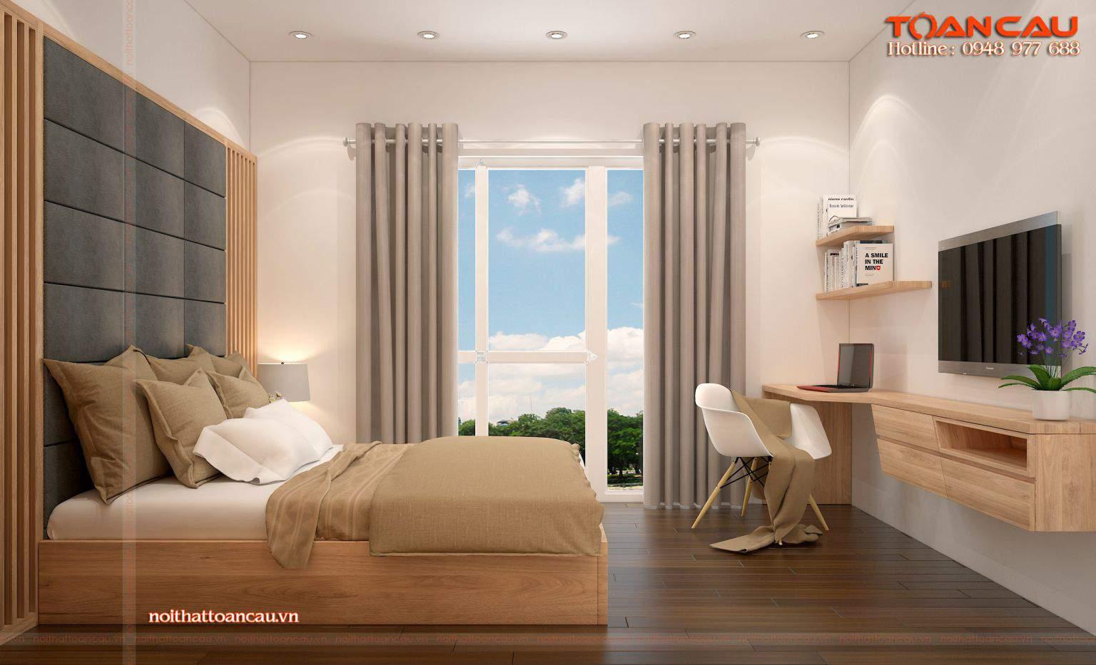Mẫu thiết kế nội thất cho phòng ngủ nhỏ diện tích 9m2 đẹp hoàn hảo