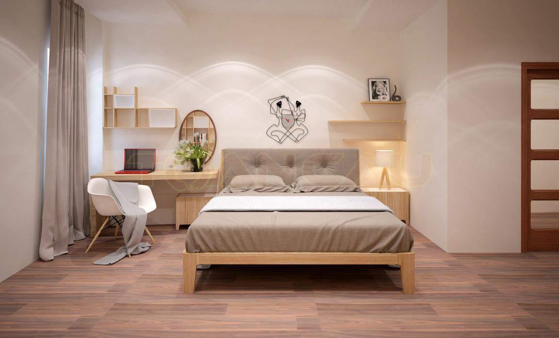 Thiết kế phòng ngủ nhỏ 25m2 đẹp tươi mới