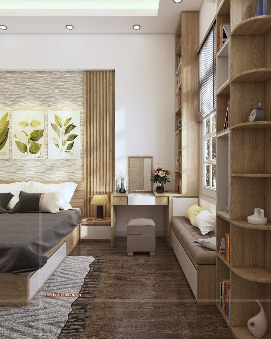 Chú ý bài trí những món đồ nội thất cho thiết kế nội thất phòng ngủ 15m2