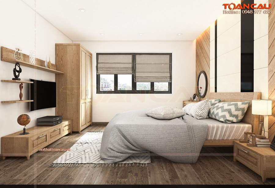 Thiết kế nội thất phòng ngủ nhỏ 20m2 nhà Anh Dũng hiện đại