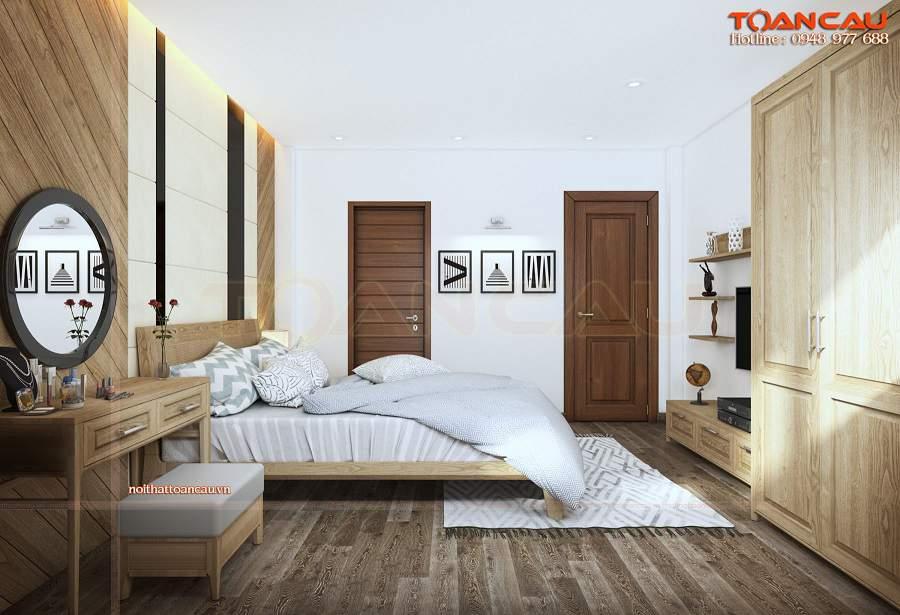 Thiết kế nội thất phòng ngủ nhỏ 20m2 gam màu nhã nhặn