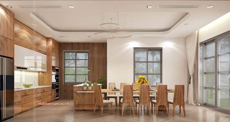 Thiết kế nội thất căn hộ Vinhome đẹp tại Hải Phòng cho phòng bếp