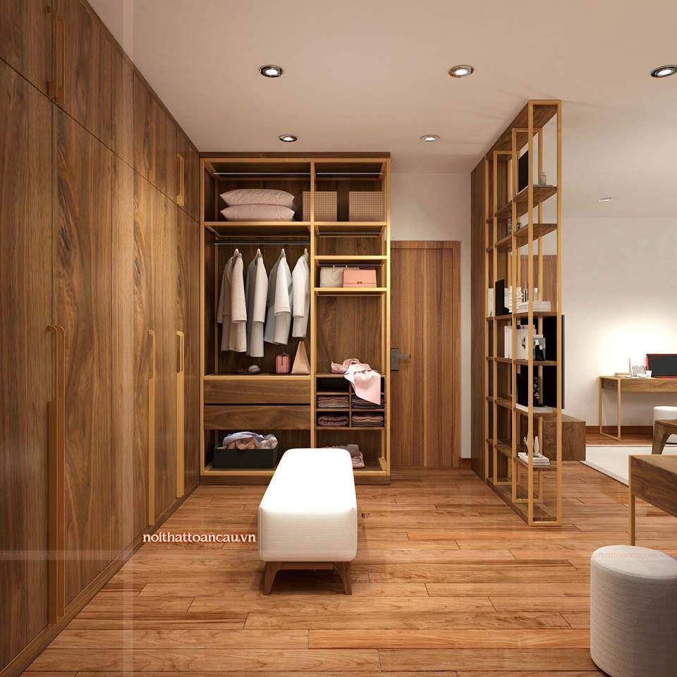 Thiết kế thêm phòng thay đồ tiện ích