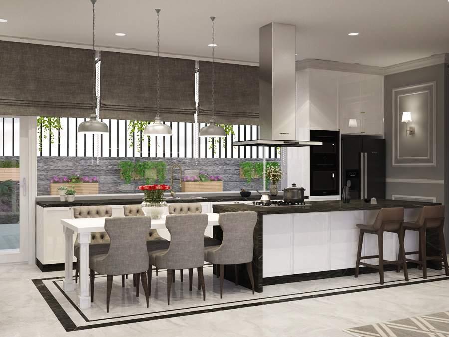 Thiết kế phòng khách nhà chung cư có cây xanh tươi mát