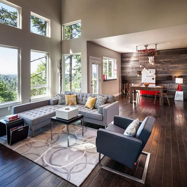 Thiết kế nội thất phòng khách hài hòa màu sắc