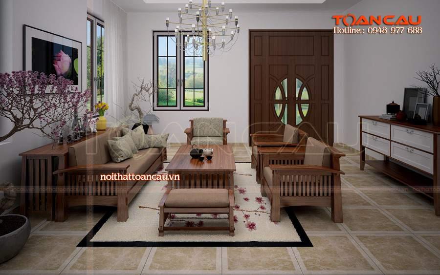 Thiết kế phòng khách nhà ống đẹp bằng gỗ sồi đẹp và sang