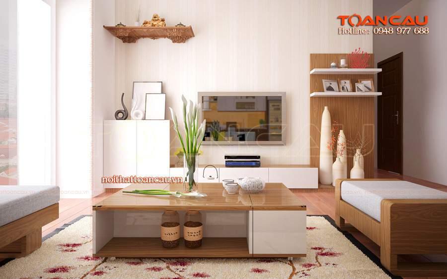 Thiết kế phòng khách nhà ống đẹp bằng gỗ sồi đẹp và hoàn hảo