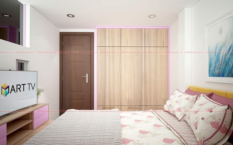 Thiết kế phòng ngủ gỗ xoan đào
