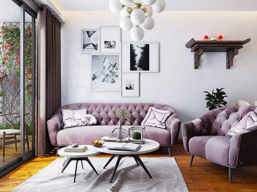 Thiết kế nội thất phòng khách thông minh cho căn hộ nhỏ
