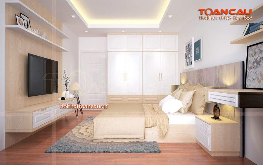 Thiết kế nội thất phòng ngủ 25m2 nên chọn phù hợp với không gian căn phòng