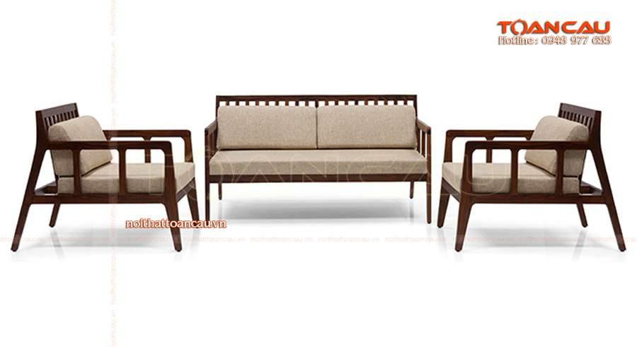 Sang chảnh cùng thiết kế bộ bàn ghế gỗ phòng khách hiện đại