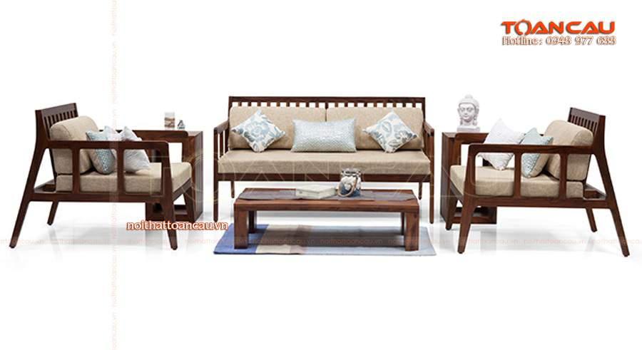 Nội thất gia đình đẹp với bàn ghế gỗ phòng khách hiện đại.