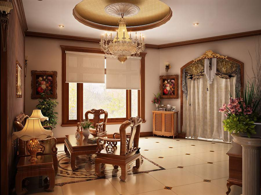 đồ gỗ trang trí phòng khách