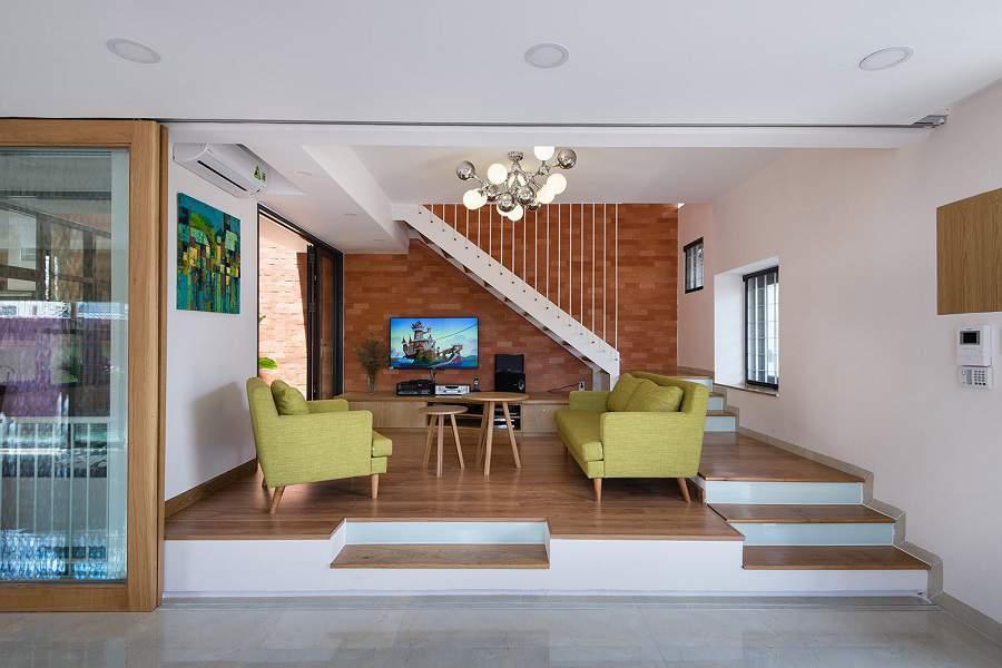 Trang trí phòng khách đẹp có cầu thang đẹp nhất