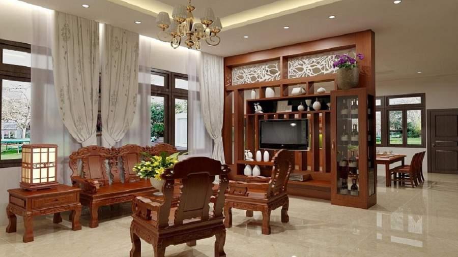 Căn phòng khách cổ điển