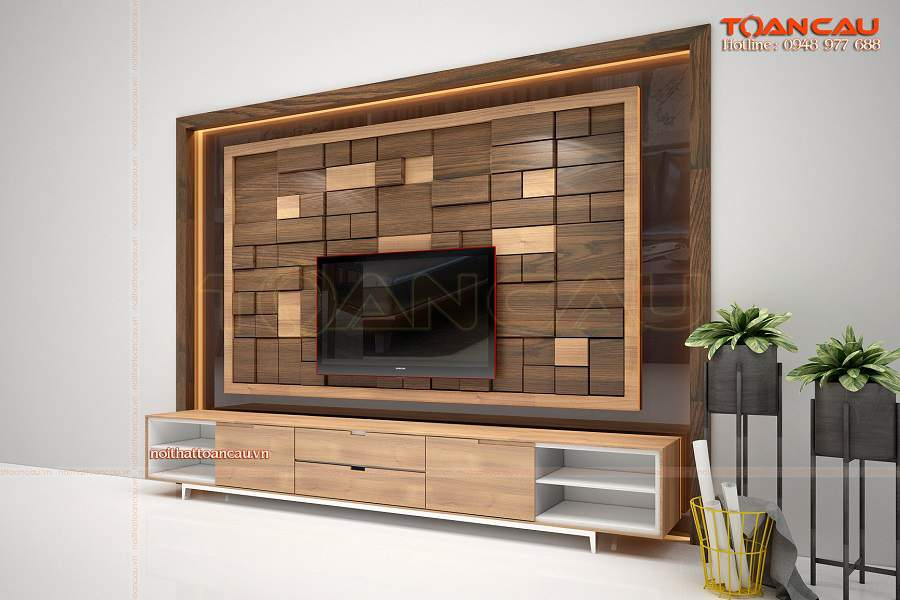 Ốp tường gỗ tự nhiên bền