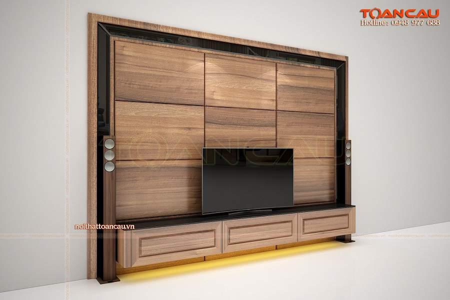 Những trang trí tường phòng khách bằng gỗ đẹp hoàn hảo