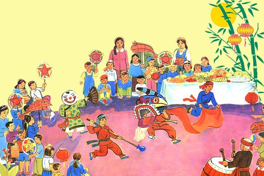 Tranh vẽ lễ hội dân gian việt nam đẹp