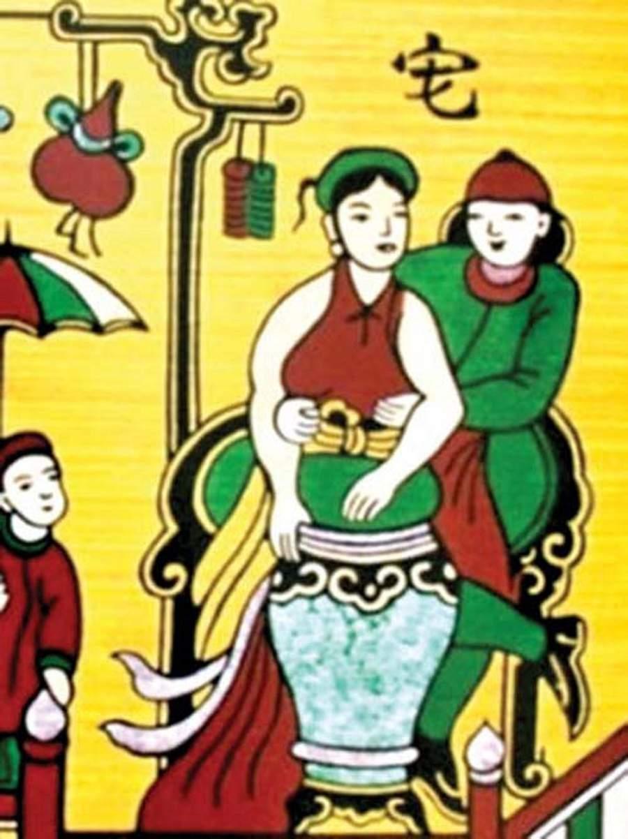 Tranh vẽ lễ hội dân gian việt nam