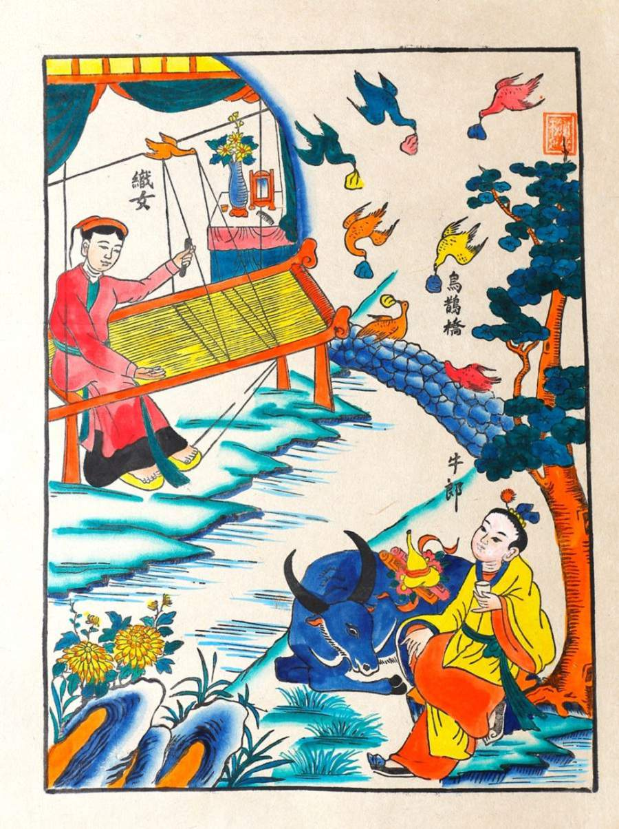 Tranh vẽ làng nghề truyền thống