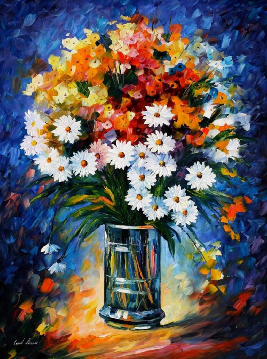 Treo tranh tĩnh vật lọ hoa và quả đẹp