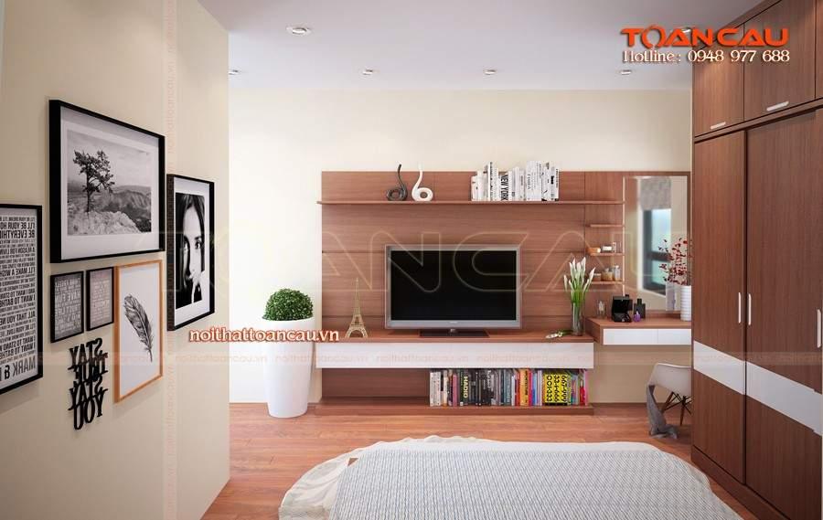 Kệ tivi phòng ngủ thiết kế gỗ tự nhiên cao cấp sang trọng bền đẹp