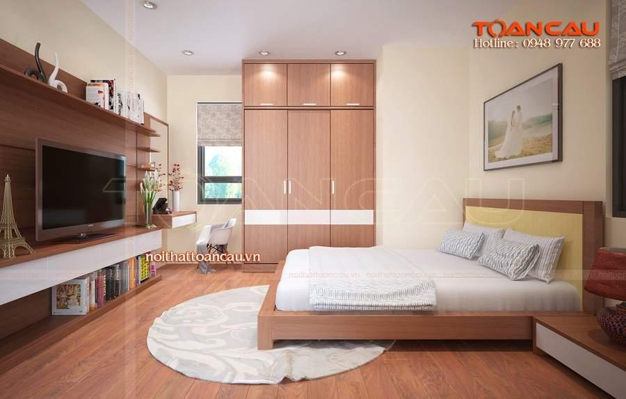 Tủ quần áo gỗ tự nhiên , thiết kế cửa lùa hiện đại