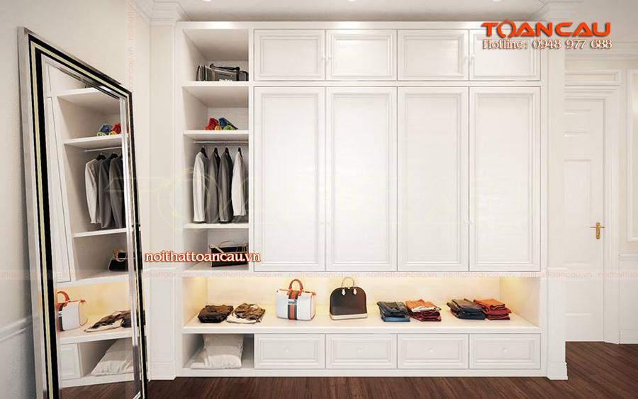 Mẫu tủ đựng quần áo - tủ áo ưa chuộng nhất hiện nay, tủ làm bằng chất liệu gỗ cao cấp, siêu bền khi sử dụng.