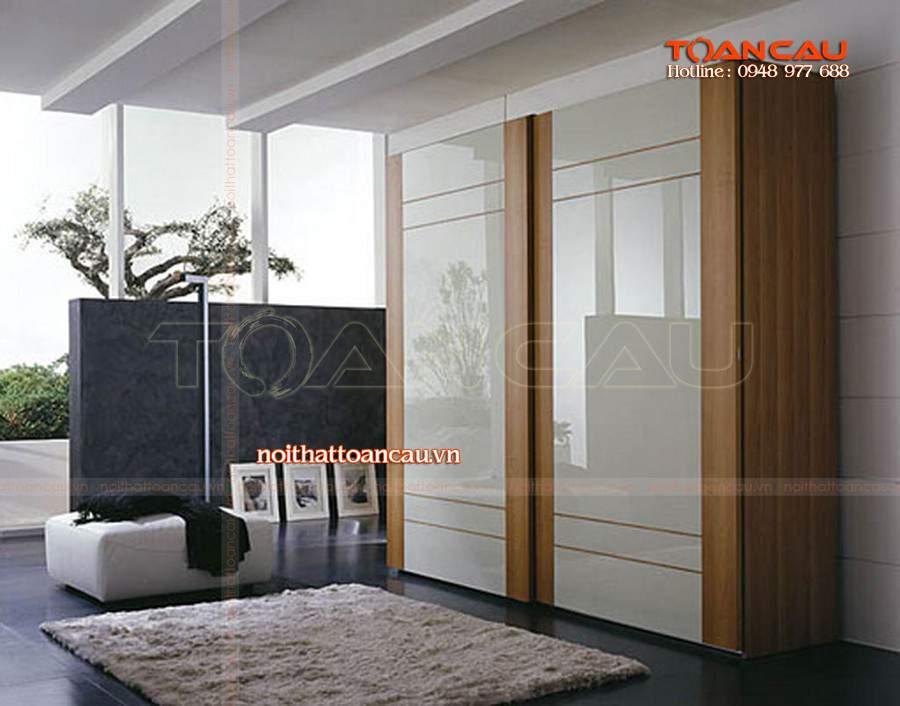 Tủ quần áo thiết kế đẹp bán với giá rẻ tại Công ty nội thất Toàn Cầu.