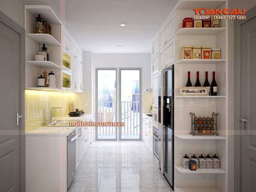 bố trí nhà bếp và nhà vệ sinh