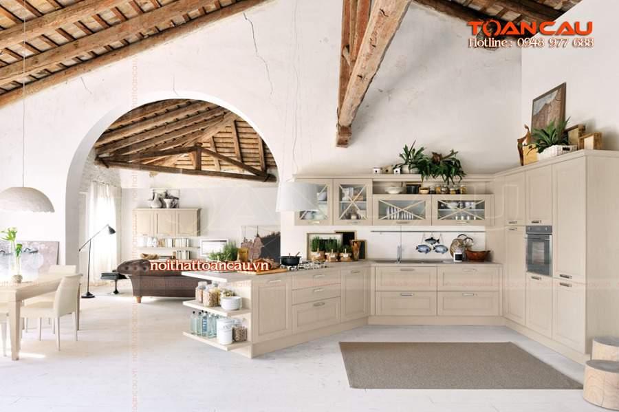 mẫu tủ bếp nhỏ đẹp ưng ý cho người dùng