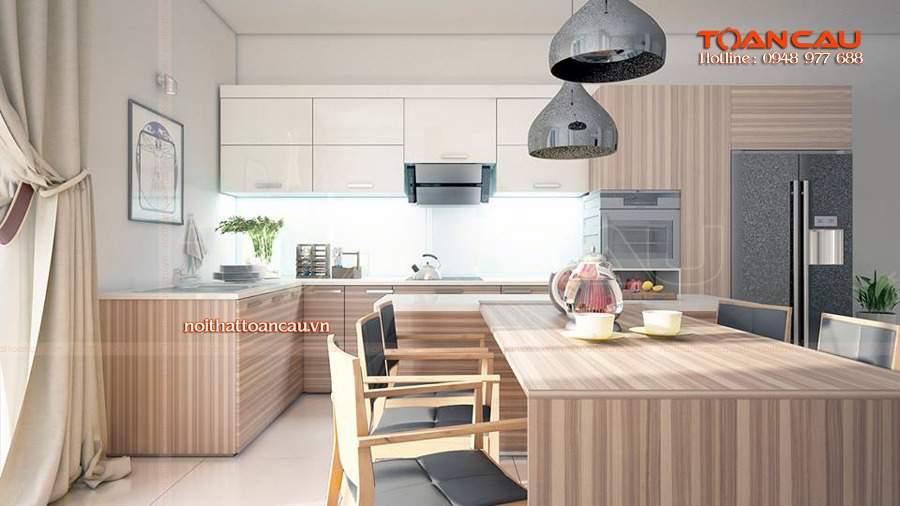 thiết kế nhà bếp diện tích nhỏ rất an toàn cho người dùng