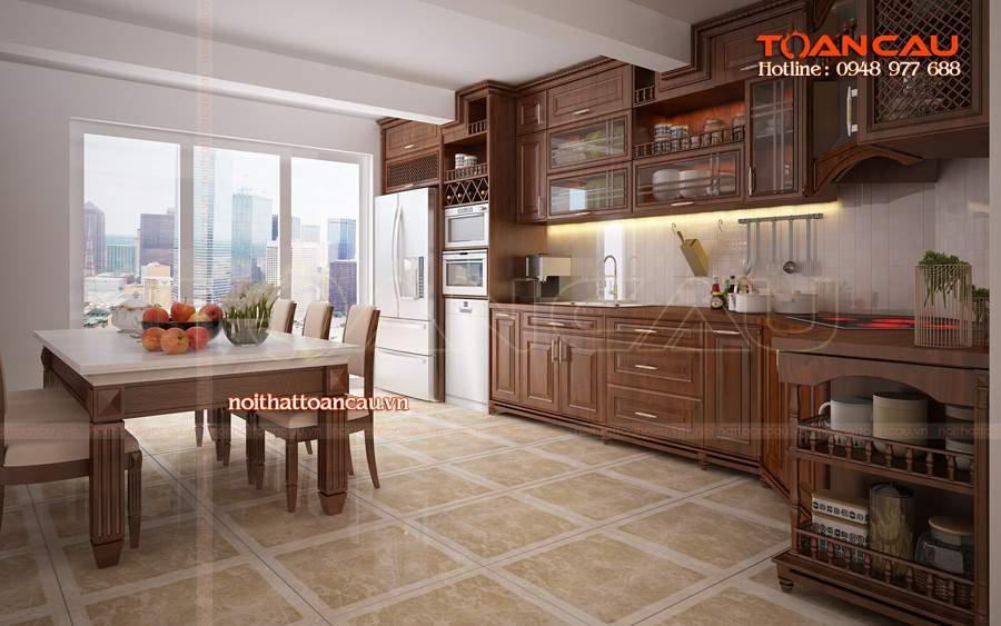 Cách trang trí nhà bếp đơn giản mà đẹp chỉ có tại nội thất Toàn Cầu