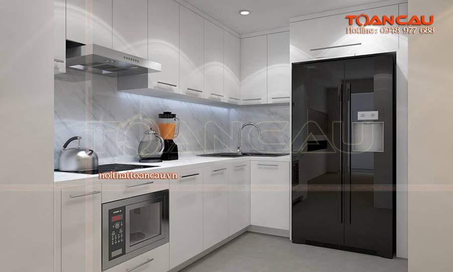 hiết kế nội thất phòng bếp chung cư