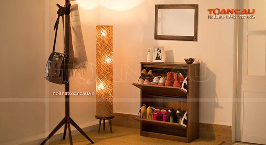 tủ giầy gỗ tự nhiên