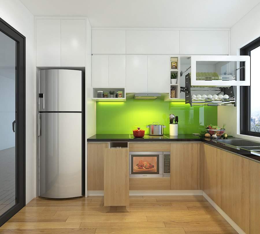 cách đặt bếp và tủ lạnh