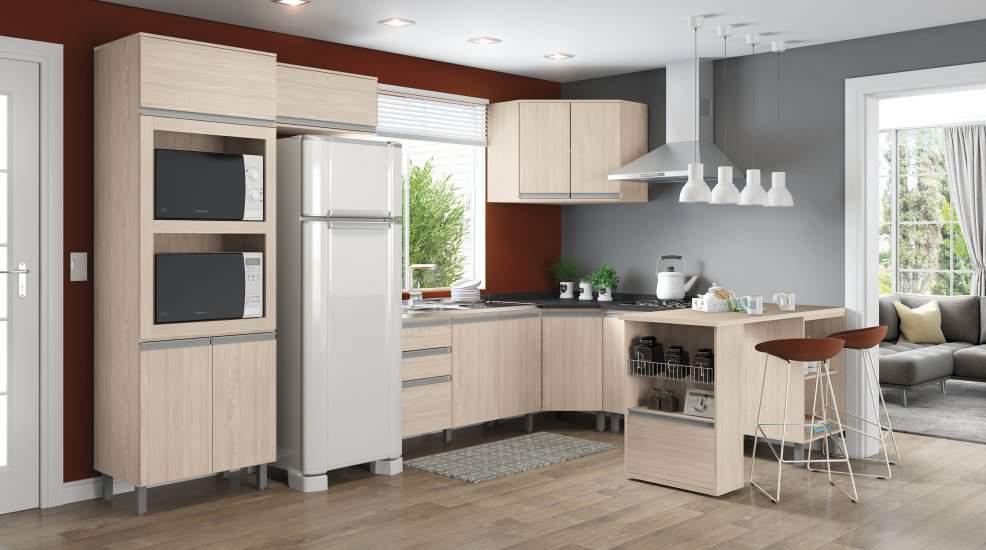 đặt tủ lạnh đối diện bếp