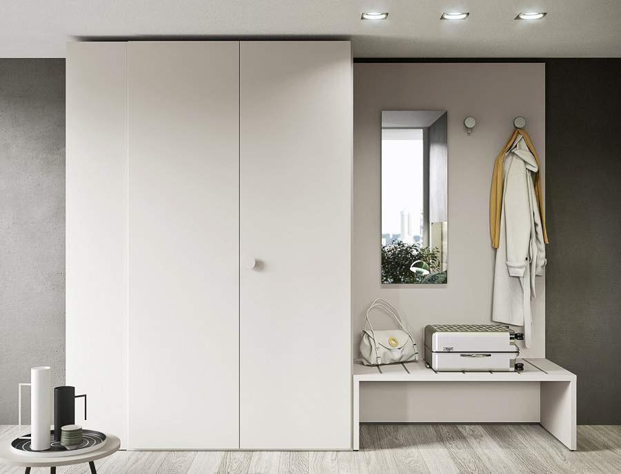 Tủ quần áo kết hợp bàn trang điểm cho nhà xinh