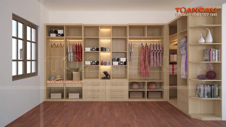 Chọn tủ quần áo cho phòng ngủ nhỏ tận dụng không gian góc vô cùng lớn
