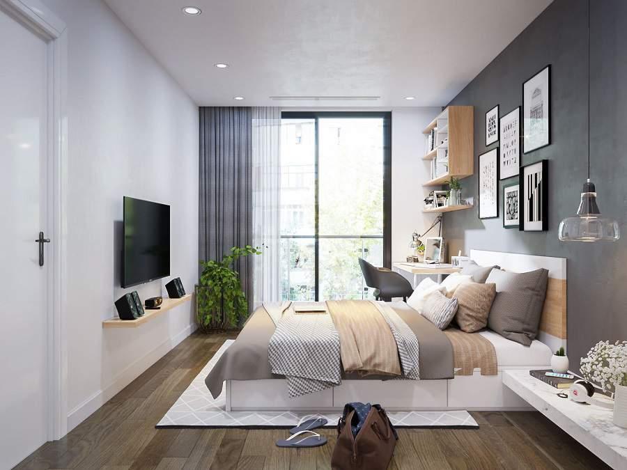 Mẫu thiết kế phòng ngủ nhà chung cư tiện nghi
