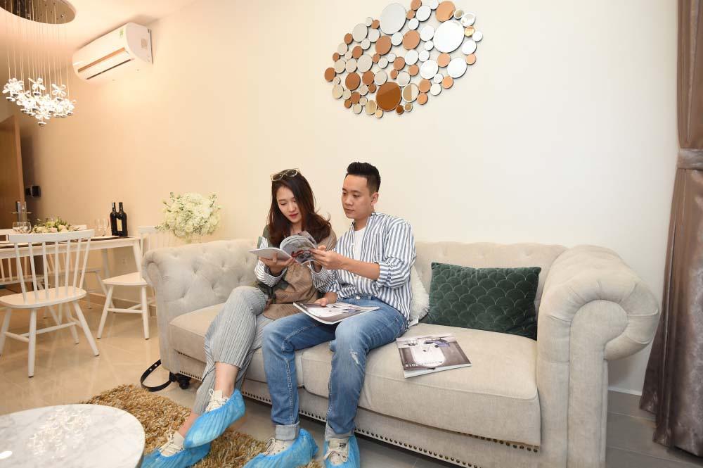 Nhiều khách hàng tỏ ra thích thú và hài lòng với căn hộ đẳng cấp VinCity