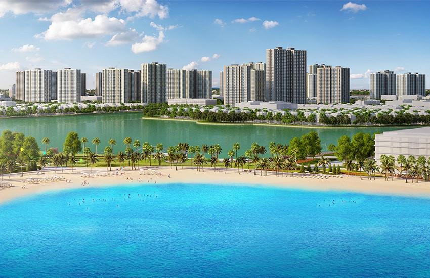 Biển hồ nước mặn cát trắng - Điểm nhấn đặc biệt của dự án Vincity Ocean Park
