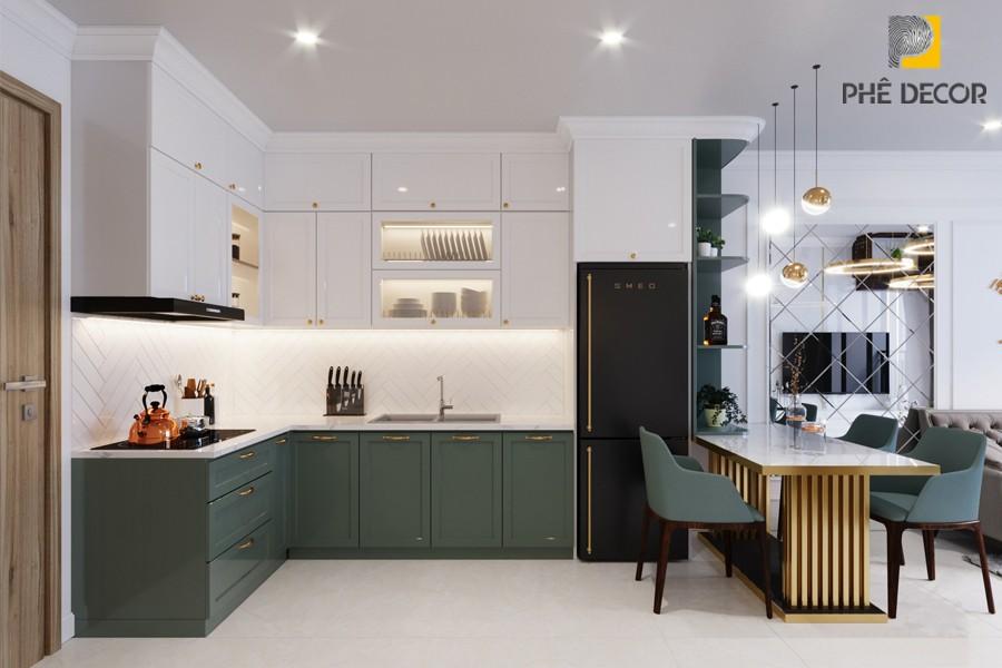 thiết kế tủ bếp kiến trúc đương đại