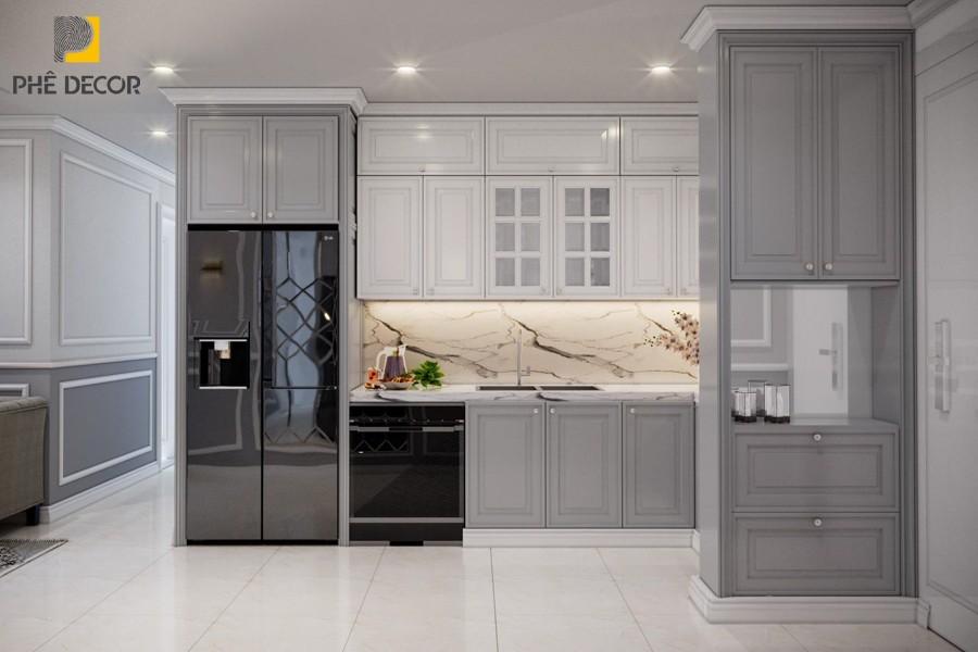 thiết kế tủ bếp sang trọng Vinhomes Ocean Park