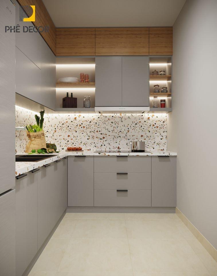 thiết kế tủ bếp Laminate